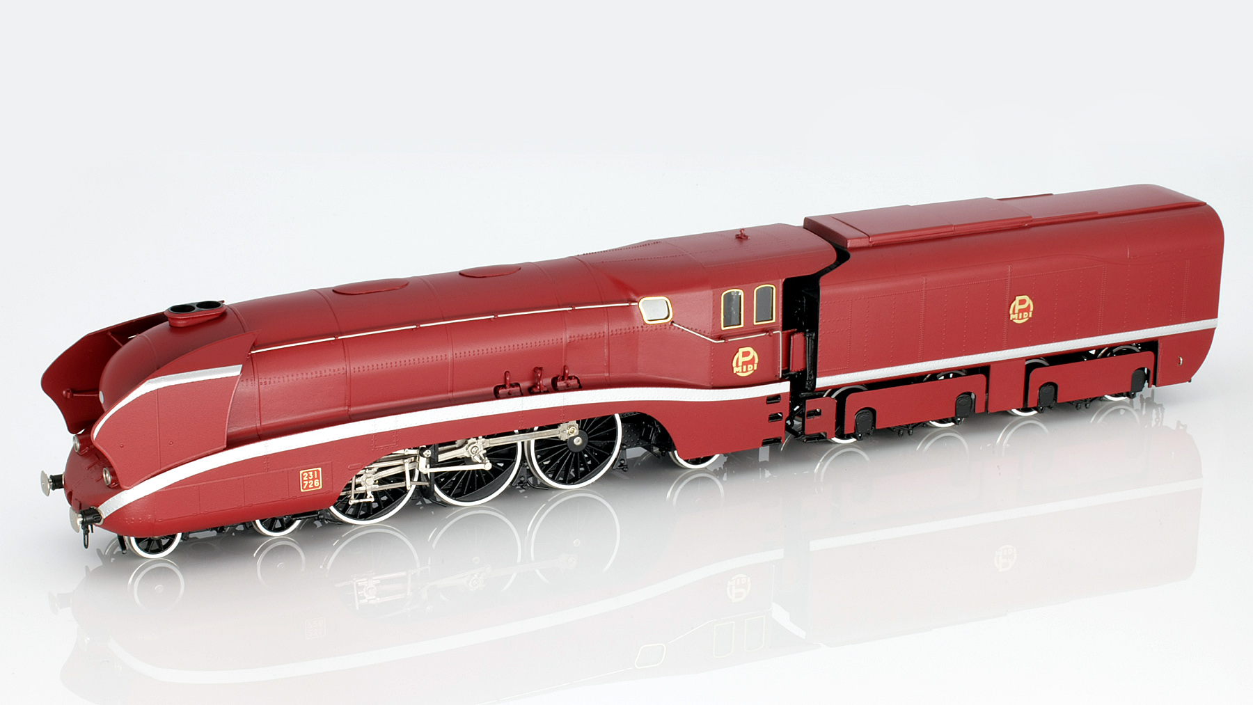 P.O. MIDI 231-726 Streamlined Steam Locomotive HO-011/2