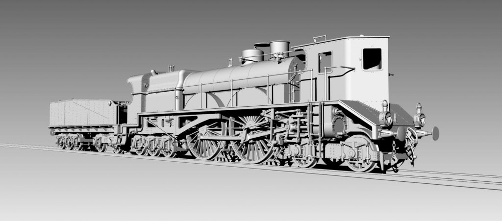 "French ""The Thuile"" Cab Forward Steam Locomotive HO-012/1"