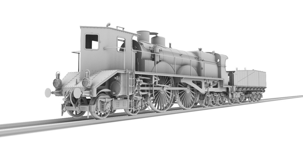 "French ""The Thuile"" Cab Forward Steam Locomotive HO-012/3"